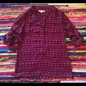 Banana Republic ladies blouse size xs dog print